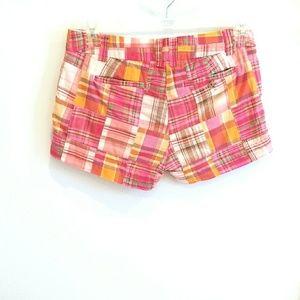 J. Crew Factory Shorts - J. Crew Factory pink madras plaid shorts